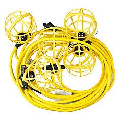 50 ft. 5-Socket Temporary String Worklight