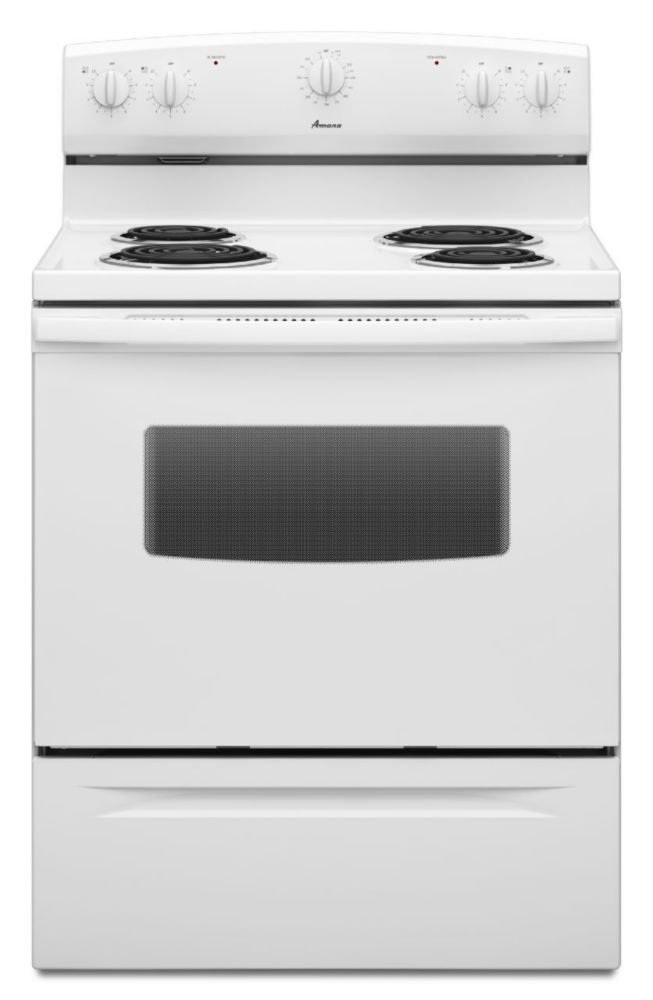 4.8 cu. ft. Free-Standing Electric Range in White