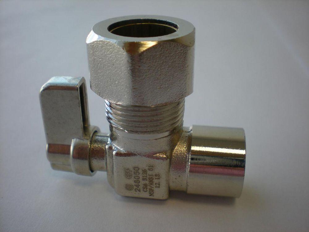 Brasé x Compression mini robinet sphérique angle