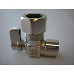 Jag Plumbing Products 1/2-inch Sweat x 5/8-inch OD Comp. Angled Mini Valve