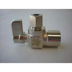 Jag Plumbing Products 1/2-inch Sweat x 1/4-inch OD Comp. Angled Mini Valve