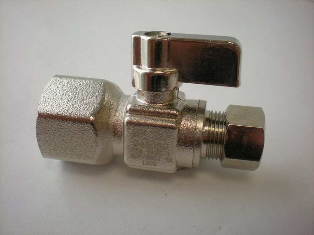 Jag Plumbing Products 1/2-inch IPS x 3/8-inch OD Comp. Straight Mini Ball Valve