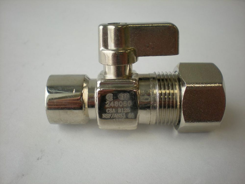 Jag Plumbing Products 1/2-inch Sweat x 5/8-inch OD Comp. Straight Mini Ball Valve