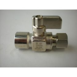 Jag Plumbing Products 1/2-inch Sweat x 3/8-inch OD Comp. Straight Mini Ball Valve