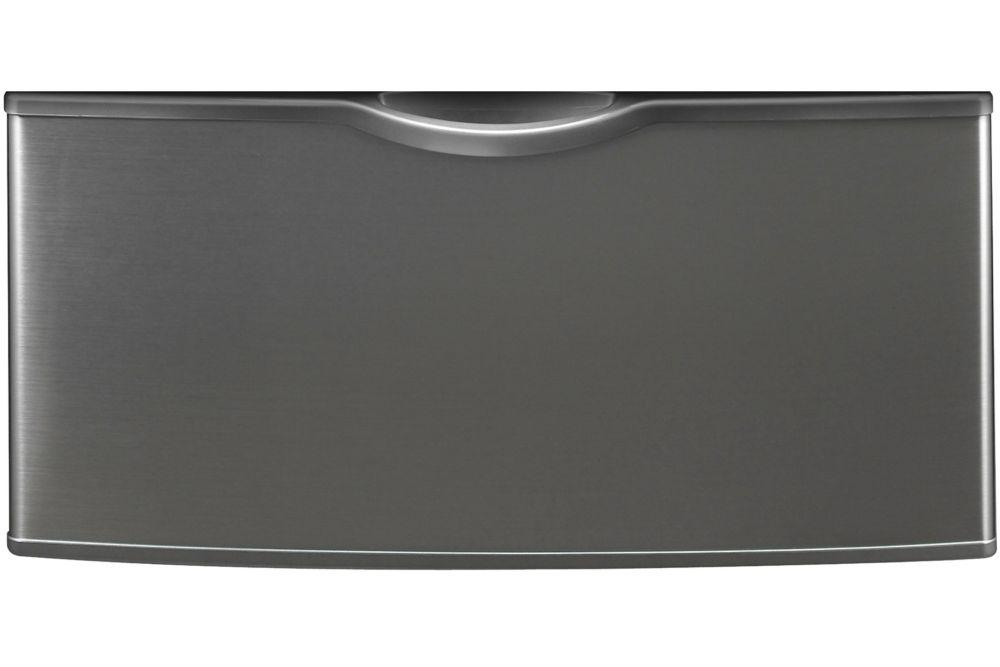 Piédestal d'appareil de lessive à chargement frontal platine inoxydable - WE357A0P