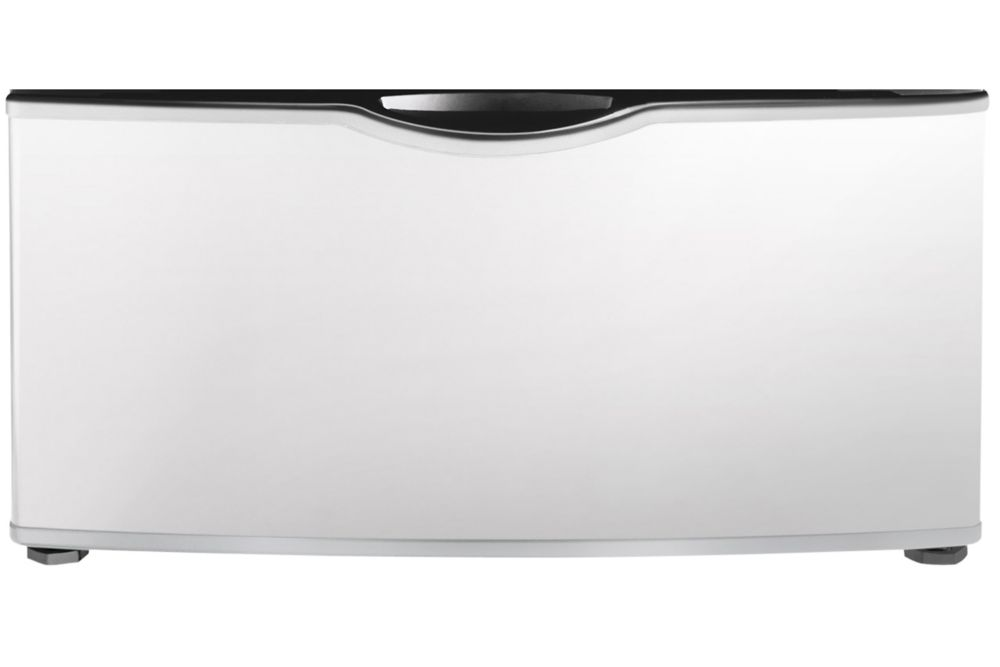 Piédestal d'appareil de lessive à chargement frontal blanc clair - WE357A0W
