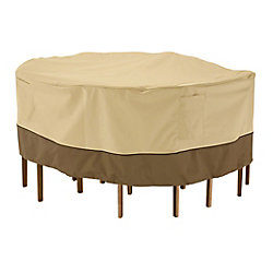 Classic Accessories Housse pour ensemble de table et chaises de patio - ronde, petite
