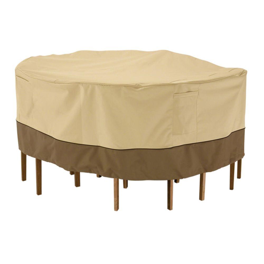 Housse pour ensemble de table et chaises de patio - ronde, grande