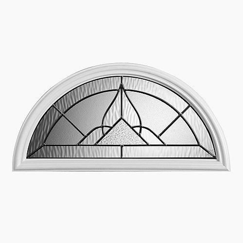 Masonite Oxney 22-inch x 10-inch Ant Black Fan Lite Glass Insert