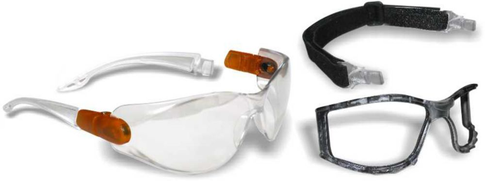 Workhorse 2 in1 Safety Glasses/Goggle with Clear Lens