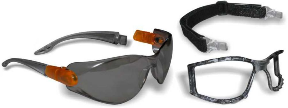 Workhorse 2 in 1 Safety Glasses/Goggle with Smoke Lens