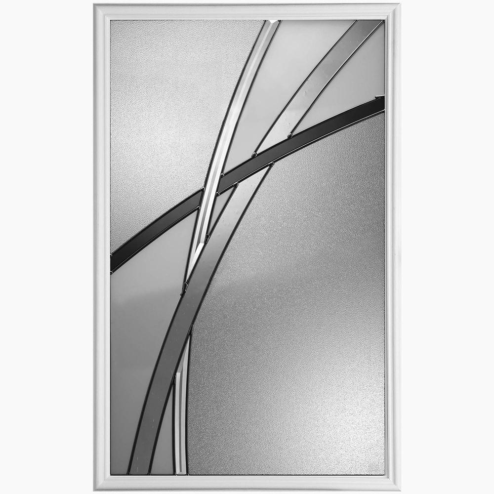 Masonite Kordella 22-inch x 36-inch Ant Black Glass Insert