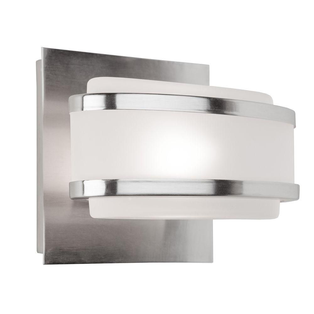 1 Light Wall Brushed Nickel Halogen Bathroom Vanity