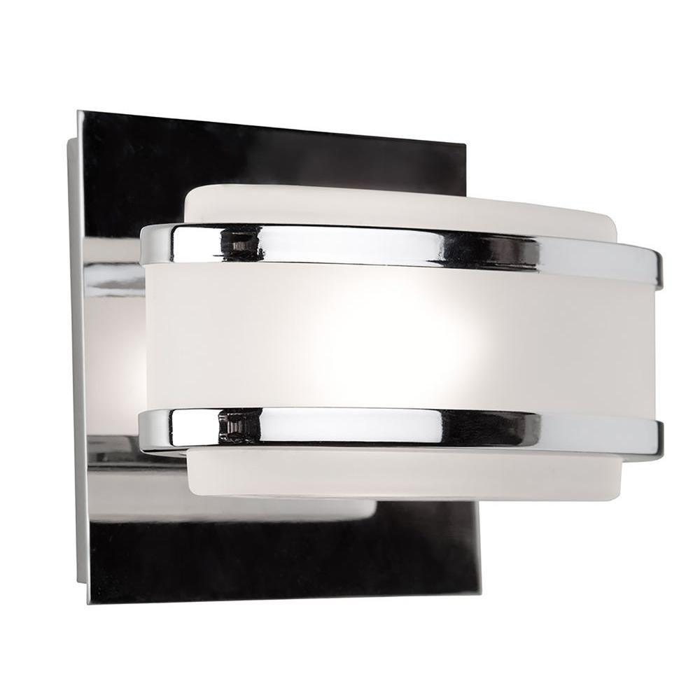 1 Light Wall Chrome Halogen Bathroom Vanity