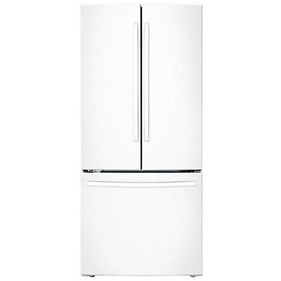 Samsung 216 Cu Ft French Door Refrigerator In White The Home
