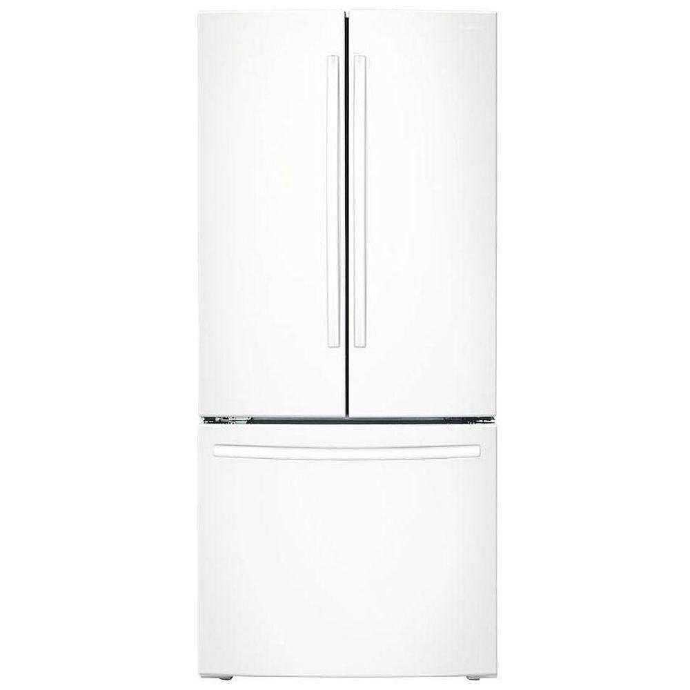 Samsung 30-inch W 21.6 cu. ft. French Door Refrigerator with Bottom Freezer in White