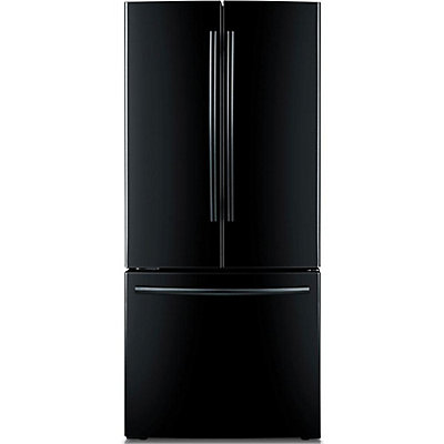 Samsung 216 Cu Ft French Door Refrigerator In Black The Home