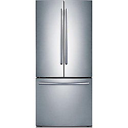 Samsung 30-inch W 21.6 cu. ft. French Door Refrigerator with Bottom Freezer in Stainless Steel