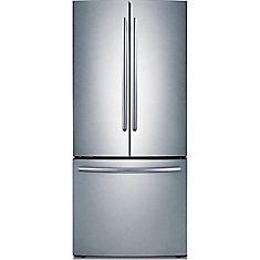 Réfrigérateur à double porte avec congélateur inférieur, 30 po, 21,6 pi3, acier inoxydable