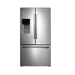 25.6 cu. ft. 3-Door French Door Refrigerator with Ice and Water Dispenser in Stainless Steel - ENERGY STAR®