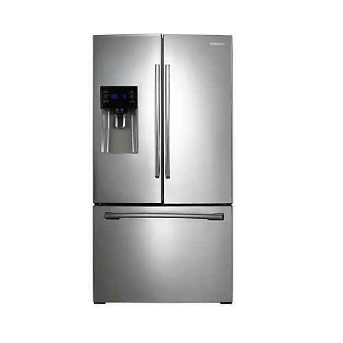 25.6 cu. ft. 3-Door French Door Refrigerator with Ice and Water Dispenser in Stainless Steel - ENERGY STAR®