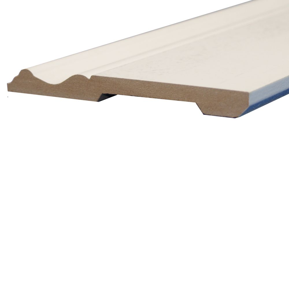 Primed Fibreboard Base 1/2 inch x 5-1/4 Inch x 8 Feet.