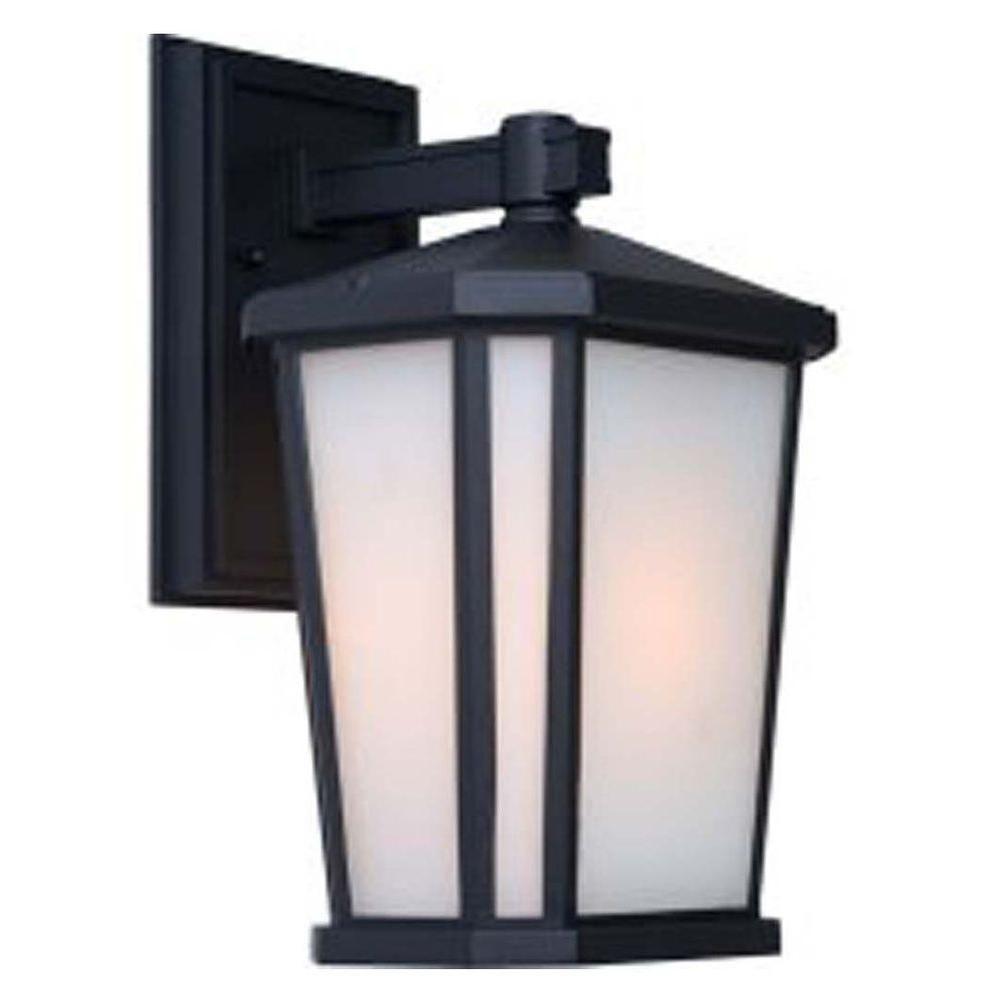 Apollo 1 Light Black Outdoor Incandescent Wall Light CLI-ACG877145 Canada Discount