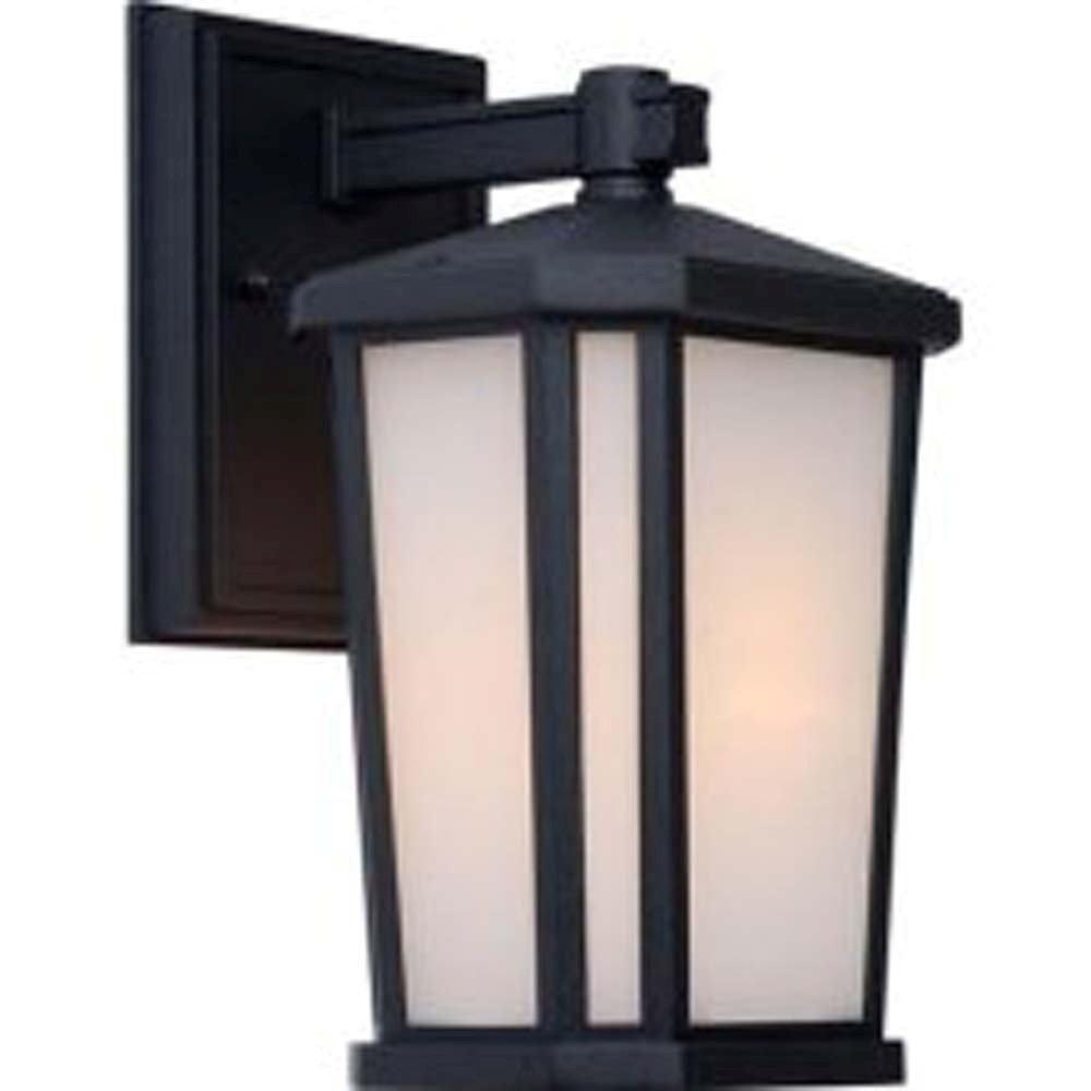 Apollo 1-Light Black Outdoor Wall-Light