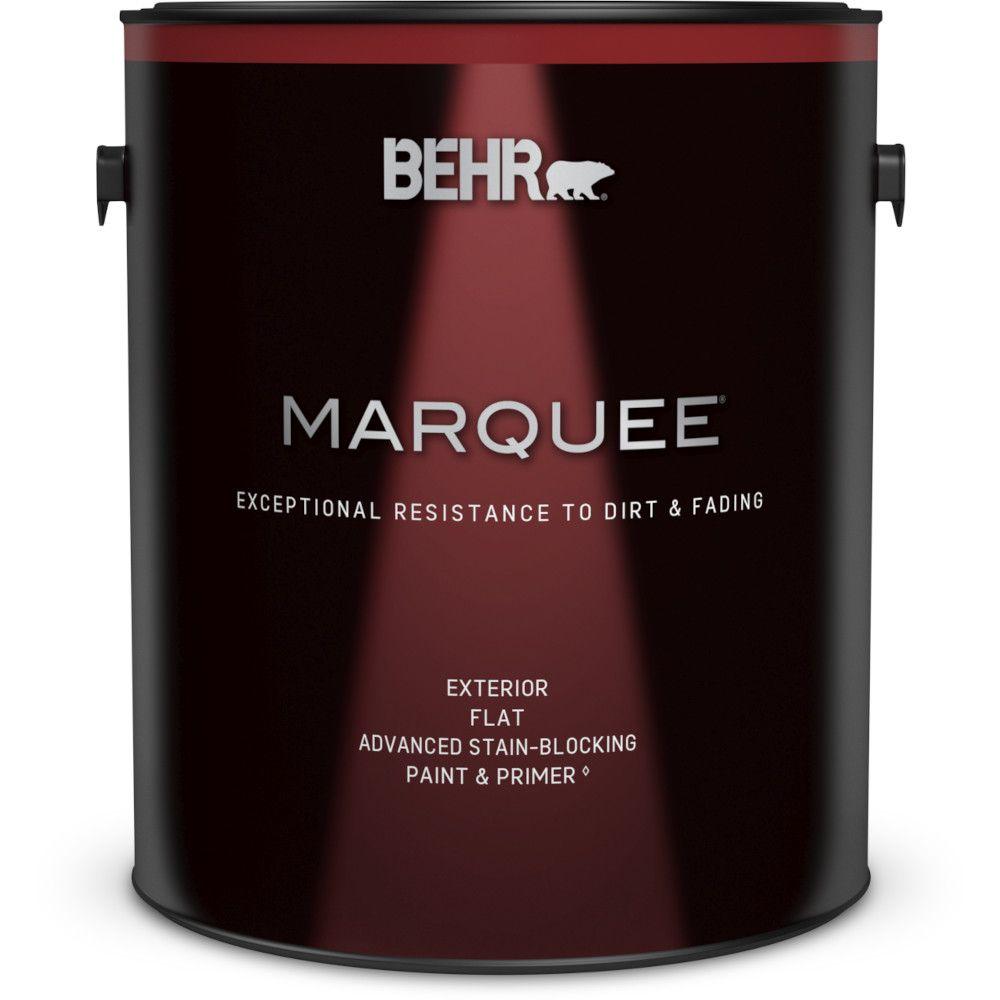 Peinture et apprêt en un BEHR MarqueeMC dextérieur avec fini mat blanc ultra pur (3,7L)