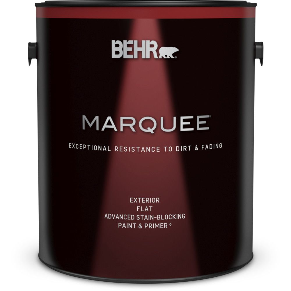 Behr Marquee 3.7L Exterior Flat Stain-Blocking Paint with Primer