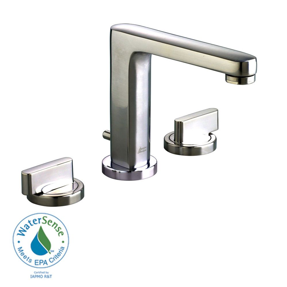 Moments 8-inch Widespread 2-Handle Mid-Arc Bathroom Faucet in Polished Chrome Finish