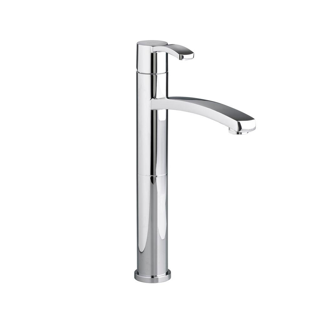 Berwick Monoblock Single-Handle Bathroom Vessel Faucet in Polished Chrome Finish