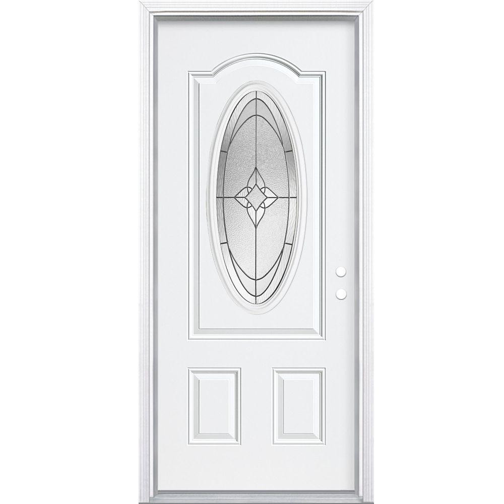 32-inch x 4 9/16-inch 3/4-Oval Oxney Left Hand Door