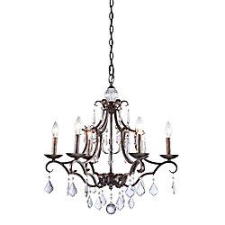 Filament Design 6-Light Ceiling Dark Brown Chandelier