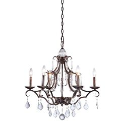 Filament Design 6-Light Ceiling Dark Brown Chandelier