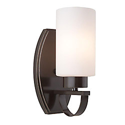 Filament Design 1 Light Wall Oiled Bronze Incandescent Wall Sconce