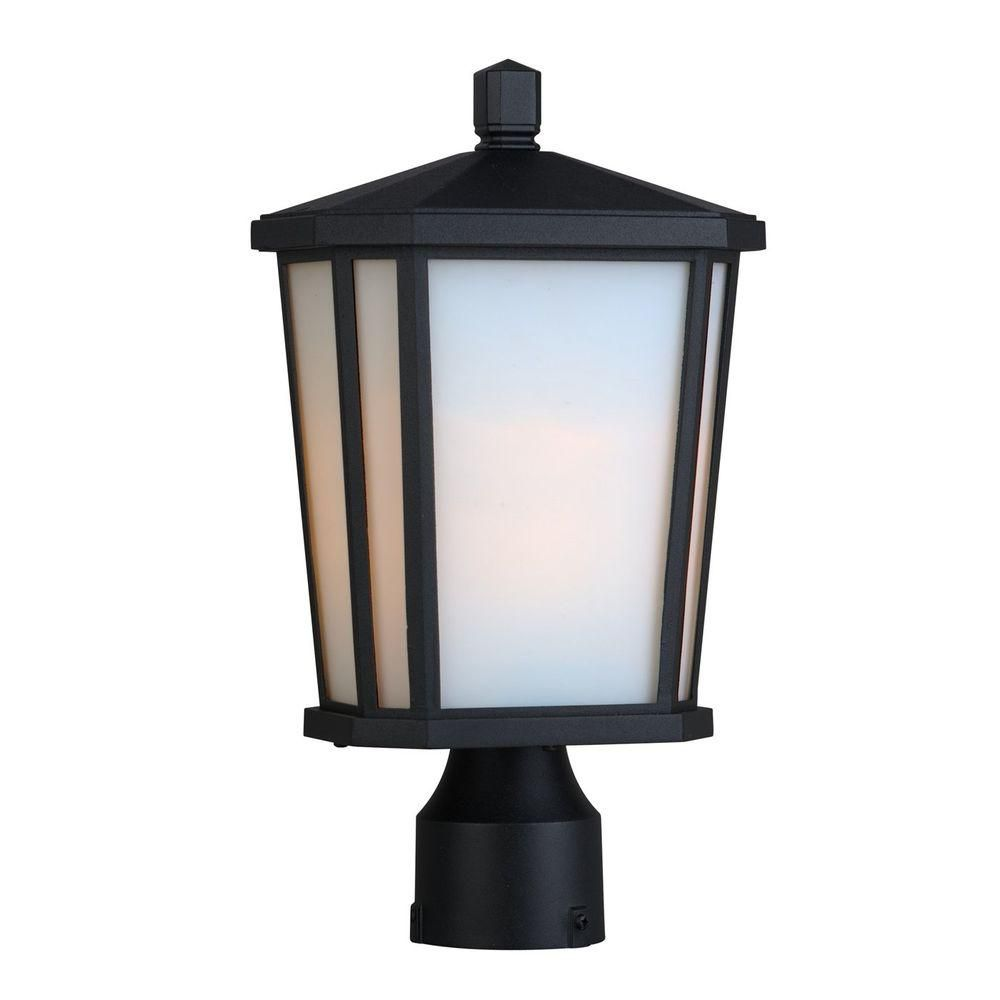 Apollo 1 Light Black Outdoor Incandescent Wall Light CLI-ACG877343 in Canada