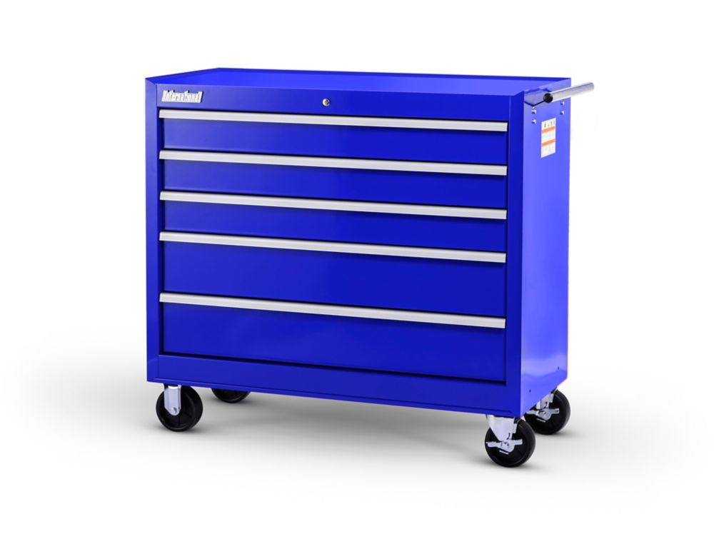 42  Inch. 5 drawer Cabinet, Blue