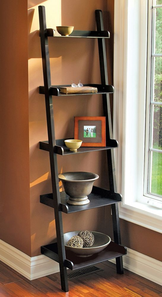 Hadfield - 67 X 18 X 13.5, 5 Tier Shelf - Black