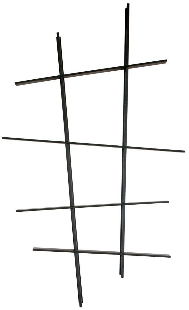 Leena � Étagère oblique � Noire. Dimensions: L48po x H81po x P6,75po.