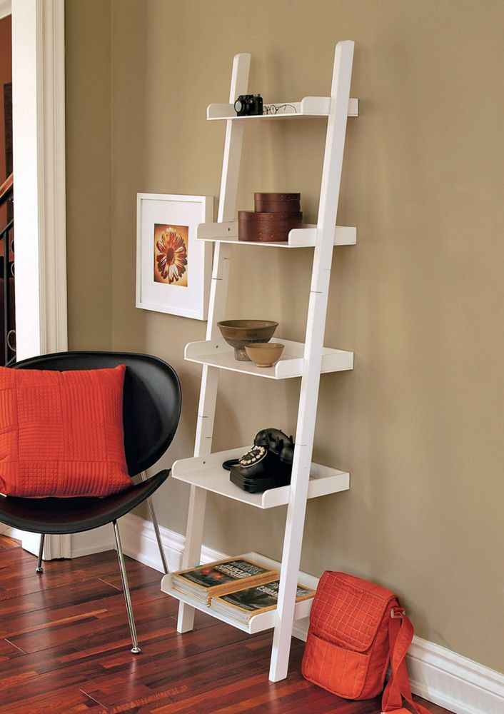 Hadfield - 67 X 18 X 13.5, 5 Tier Shelf - White