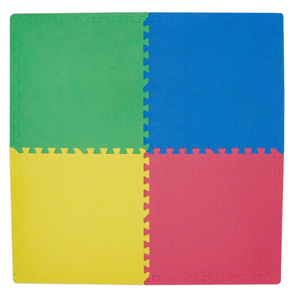 Connect-A-Mat Primary Colours- 24 Inches x 24 Inches (4 pack)