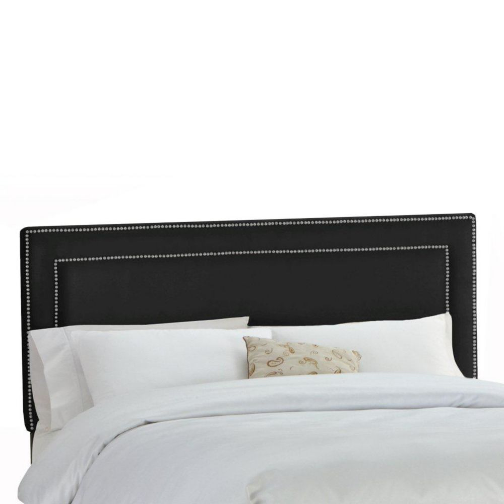 Upholstered california king headboard in velvet chocolate for California king headboard