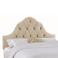 Skyline Furniture Dossier capitonné pour grand lit en velours de ton sarrasin