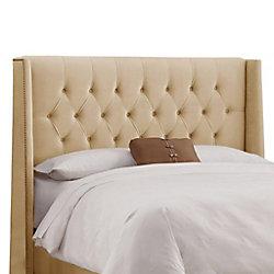 Skyline Furniture Dossier rembourré pour lit double en velours de ton sarrasin