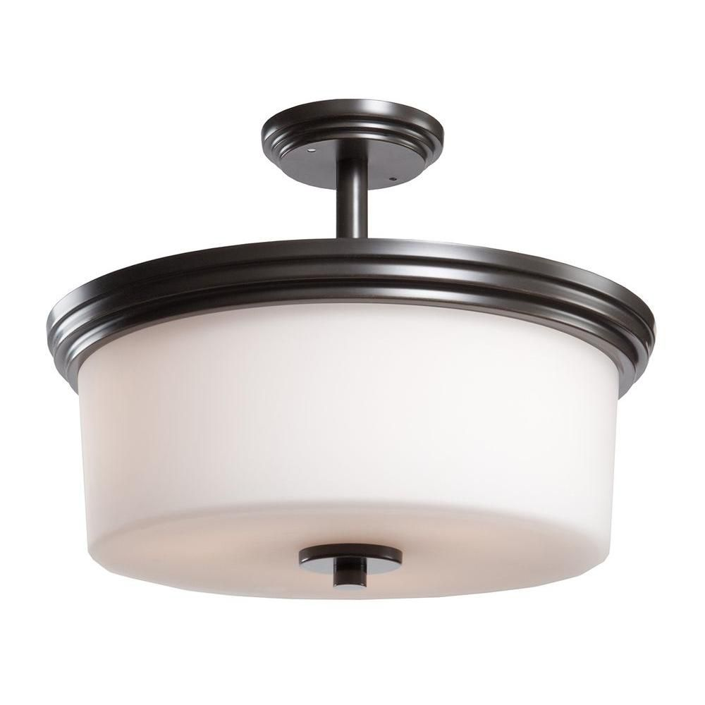 3-Light Ceiling Oiled Bronze Flush Mount