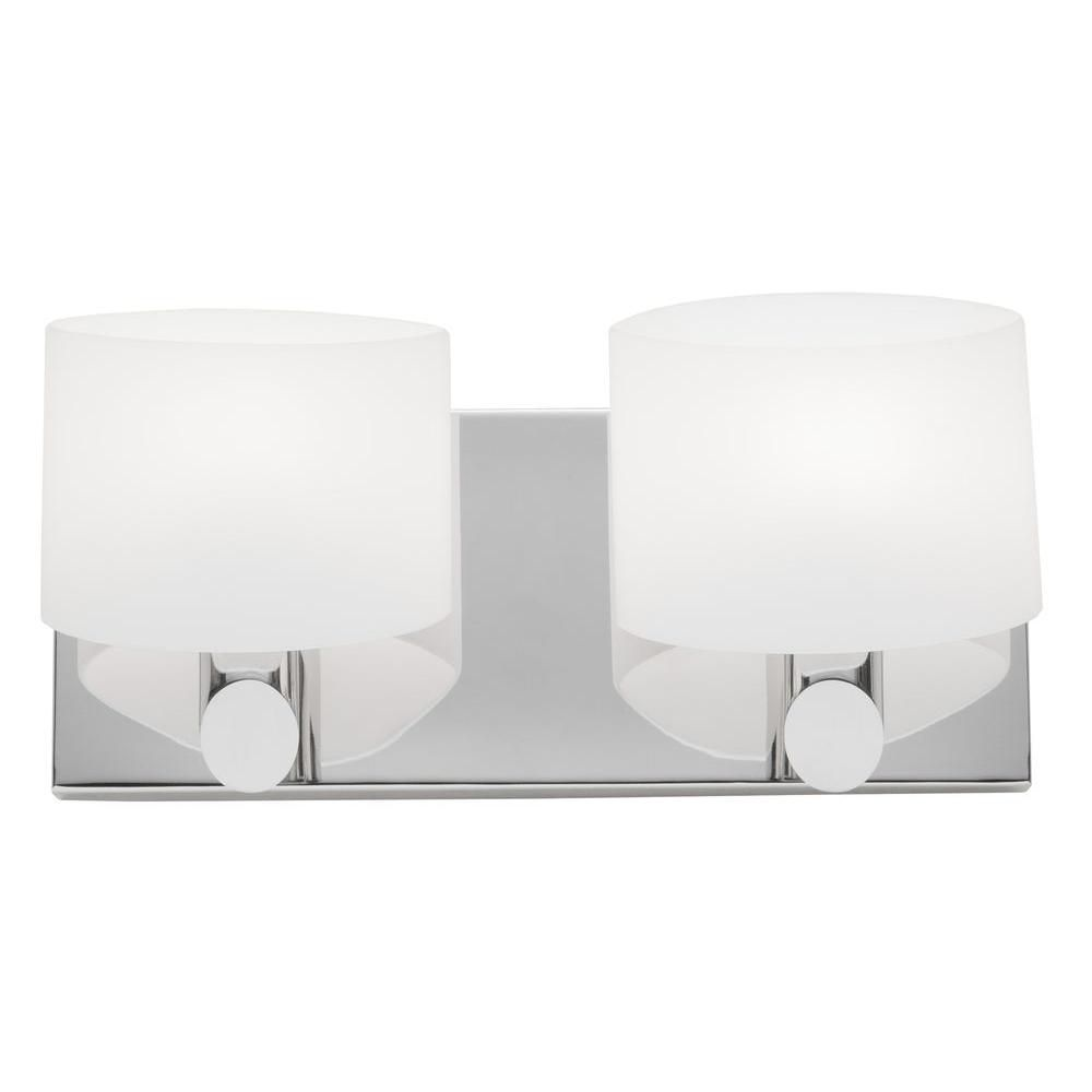 2 Light Wall Chrome Halogen Bathroom Vanity
