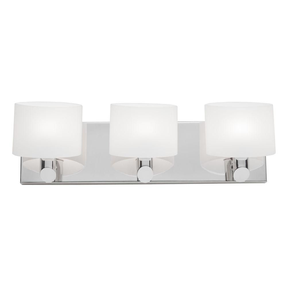 Bathroom Vanity Halogen Lights : Filament Design 3 Light Wall Chrome Halogen Bathroom Vanity The Home Depot Canada