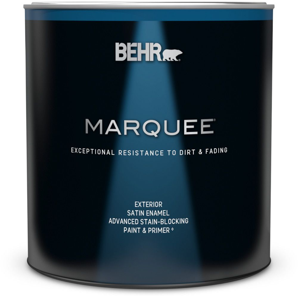 Behr Marquee Marquee 946 mL Medium Base Satin Enamel Exterior Paint with Primer