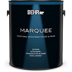 Marquee 3.7 L Ultra Pure White Satin Enamel Exterior Paint with Primer